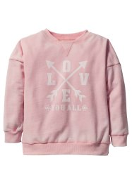 Sweatshirt med used-finish, bpc bonprix collection, puderrosa