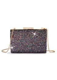 Boxbag Glitter, bpc bonprix collection, svart