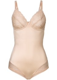 Figurformande body, bpc bonprix collection, beige