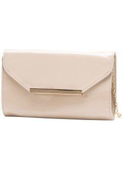 Clutch i lacklook, bpc bonprix collection, beige