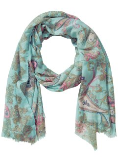 Sjal paisley/pastell, bpc bonprix collection, aqua