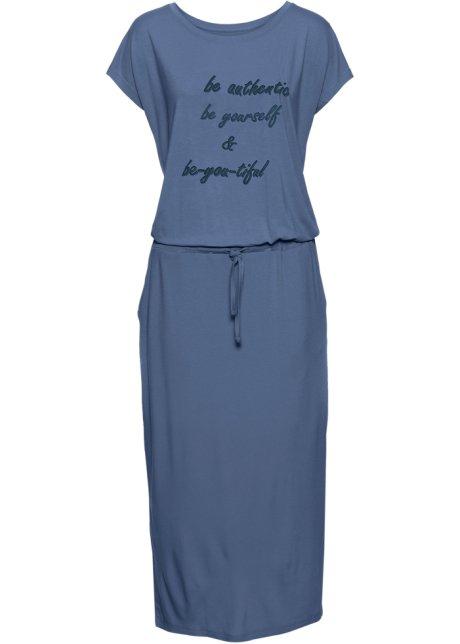 Bonprix SE - Trikåklänning med tryck, kortärmad 199.00
