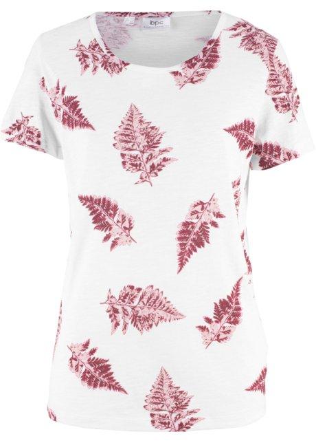 Bonprix SE - T-shirt i flamgarn, med tryck, 100 % bomull 99.00