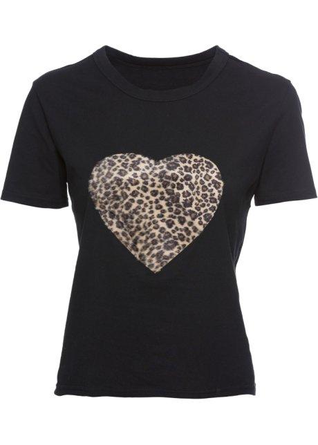Bonprix SE - T-shirt med leopardmönstrat hjärta 129.00